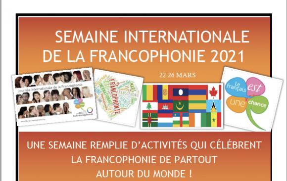 Semaine international de la Francophonie 22–26 mars