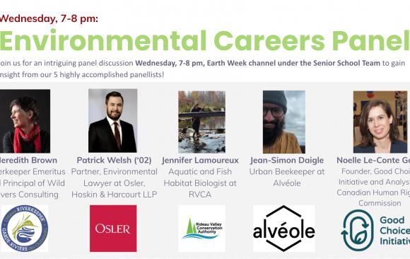 Earth Week environmental careers panel